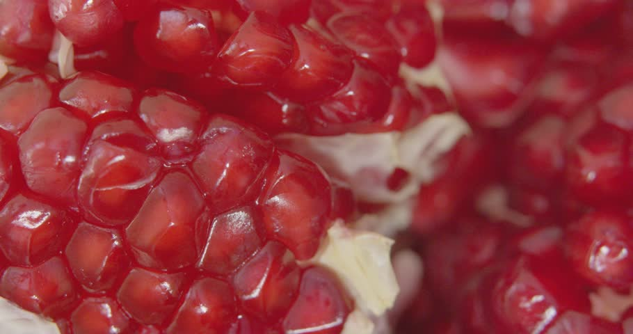 Macro shot of rotating Pomegranate | Shutterstock HD Video #11138369