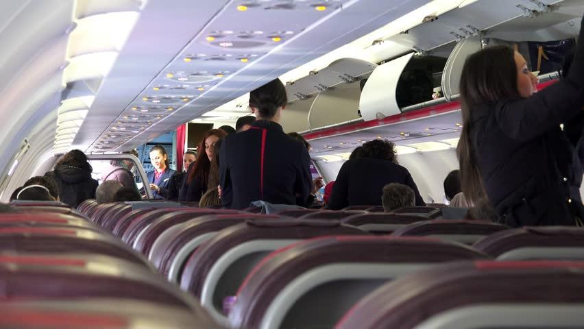 Wizzair Interior Flight Circa Video Stock A Tema 100 Royalty Free 11155364 Shutterstock
