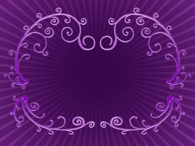 Purple branches growing, forming a title framing on twirl background. HD CG