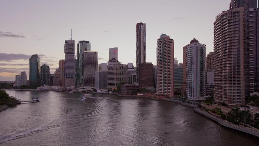 Brisbane Cityscape Dusk Hyperlapse