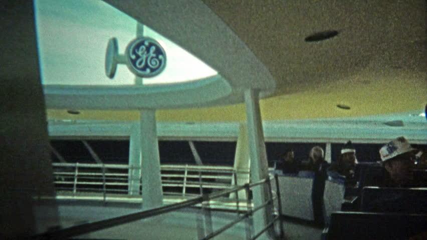 ORLANDO, FL, USA -1972: Walt Disney World trains and views of the Cinderella Castle.
