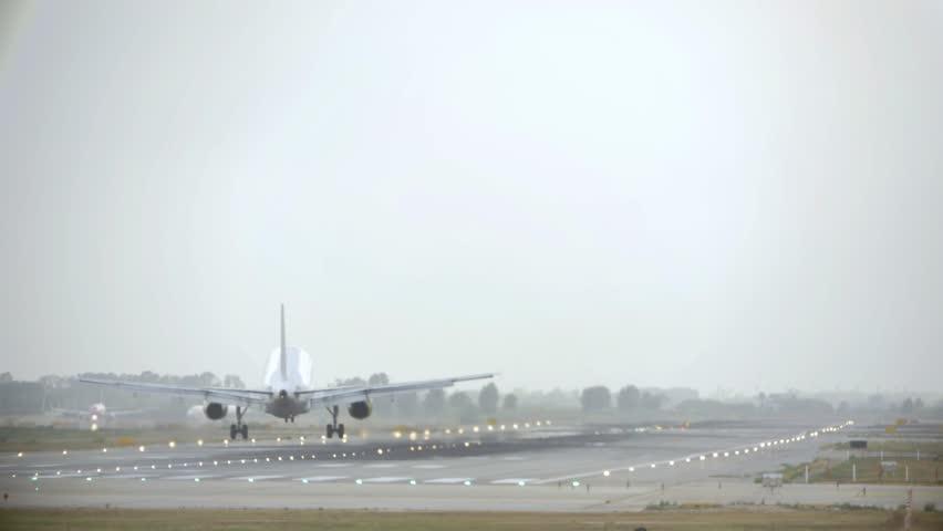 Header of Aircraft Landing