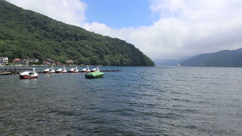 Ashinoko Lake in Hakone Japan July 2015 | Shutterstock HD Video #11179355