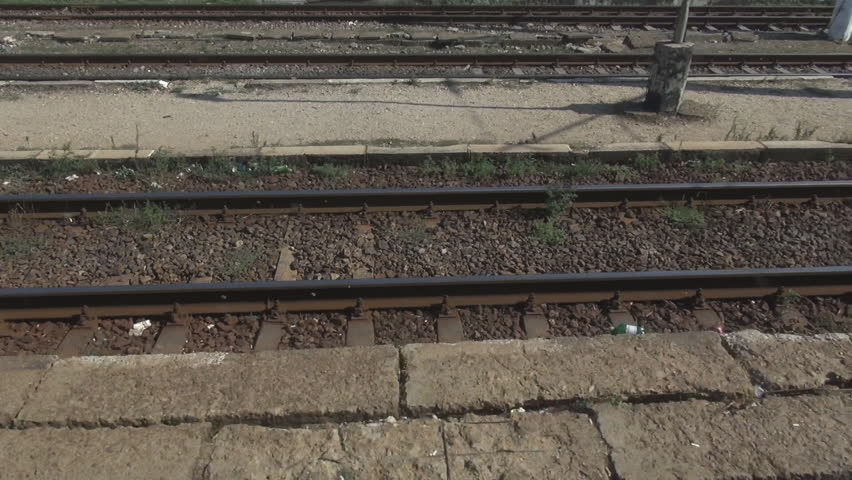 Railway railroad track parallel, train motion, speed, fast, transport, travel | Shutterstock HD Video #11187263