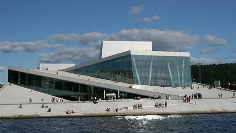 Time lapse from the Oslo Opera House in Norway