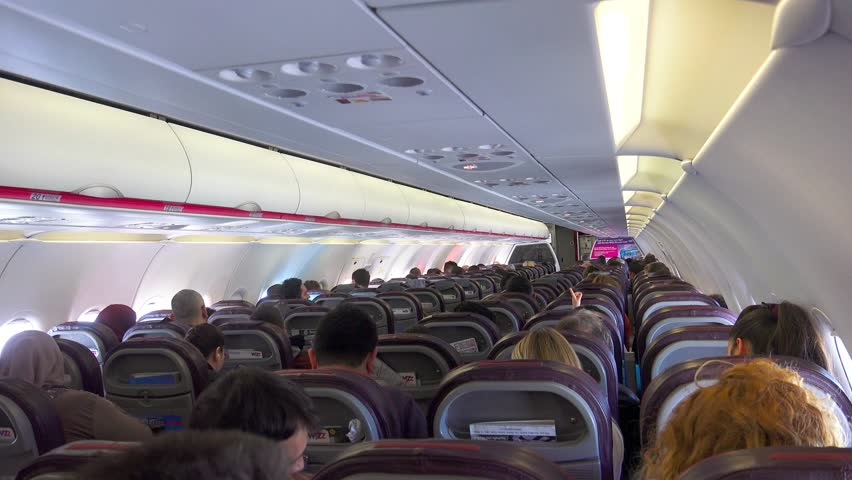Wizzair Interior Flight Circa Stock Footage Video 100 Royalty Free 11220650 Shutterstock