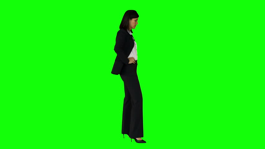 Businesswoman wagging her finger on green screen background | Shutterstock HD Video #11260022