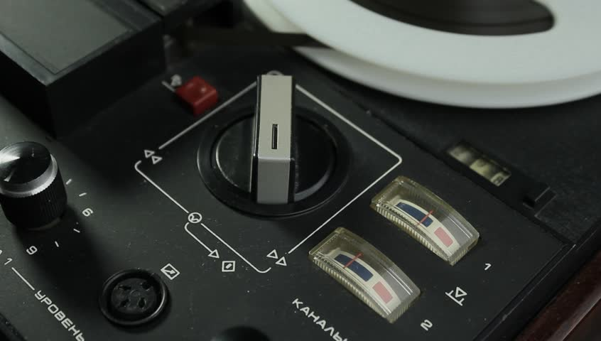 [ungraded] Analog VU-meters of reel-to-reel tape recorder. Source: ungraded H.264 from camera without re-encoding. | Shutterstock HD Video #11261036