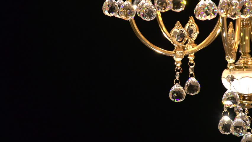 Crystal chandelier on black background. Crystals sway and sparkle. High speed camera shot. Full HD 1080p. | Shutterstock HD Video #11274797
