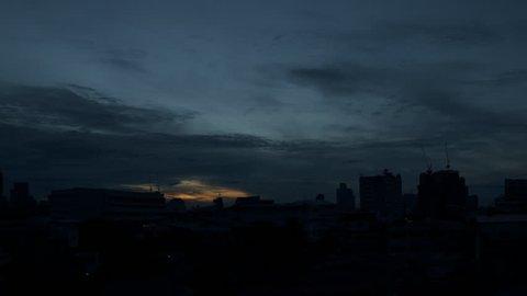Morning cloudscape in bangkok