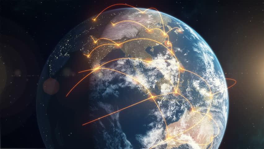 Networked Earth - Orange | Shutterstock HD Video #11325599