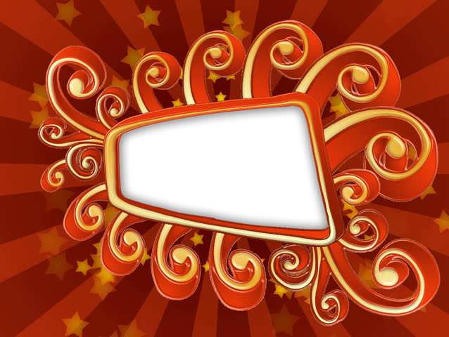 Red and golden vector style title frame background, bouncing on the screen...HD CG animation