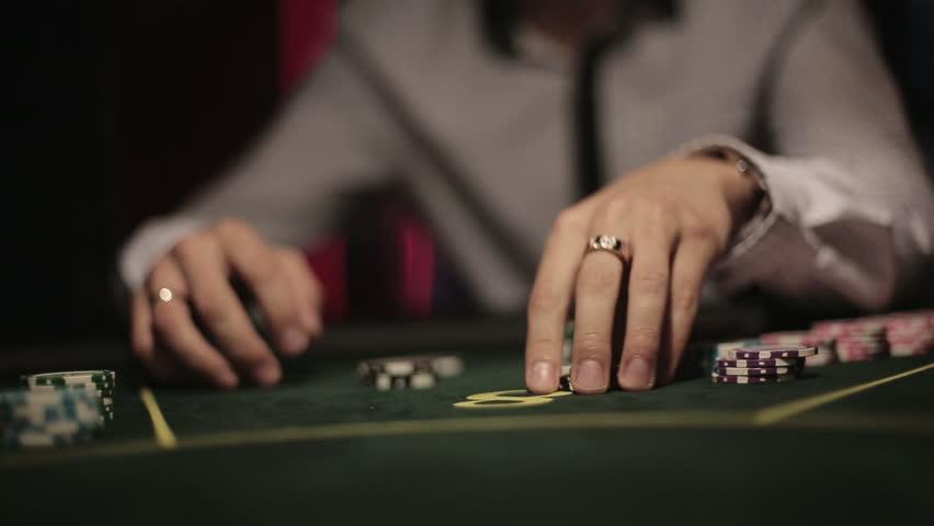 Casino, Poker: Player Shuffles Chips Stock Footage Video (100%  Royalty-free) 11329772   Shutterstock