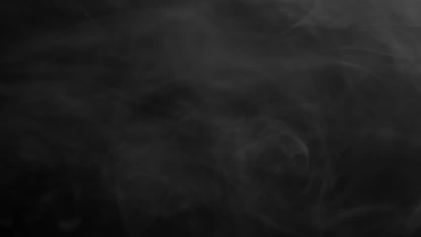 Veil of smoke swirling on the top, on black background | Shutterstock HD Video #11339651