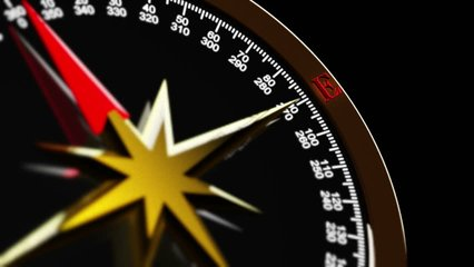 business compass and travel guide