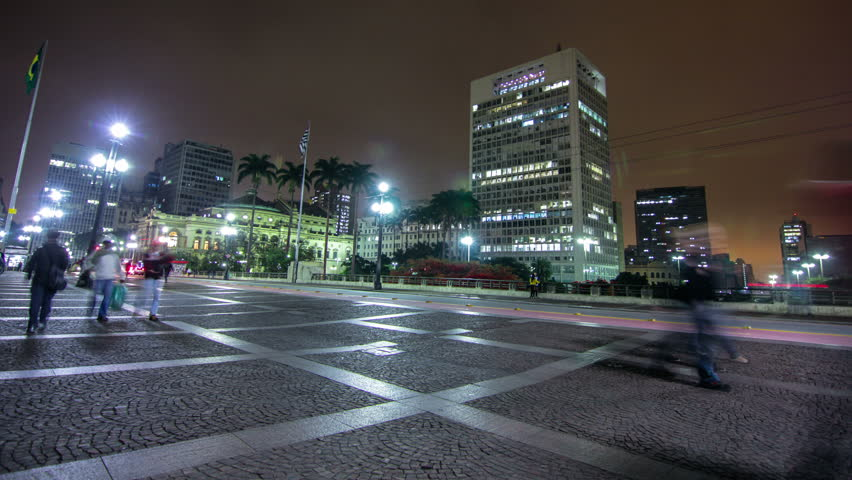 Sao Paulo - JULY 19, 2015 - Timelapse of Brazil's largest city , a metropolis that never sleeps. Strolling through the center , theaters, streets and busy avenues , of this beautiful city | Shutterstock HD Video #11359616