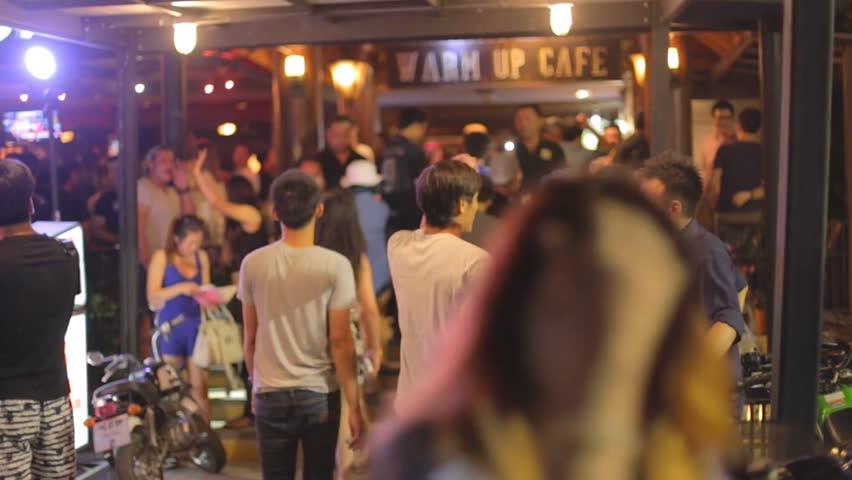 CHIANG MAI,THAILAND - CIRCA August 2015 :Young thai at local bar nightclub #11381948
