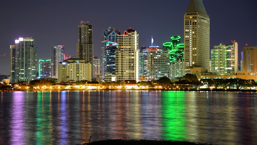 San Diego Skyline 05 Time Stock Footage Video 100 Royalty Free 11430725 Shutterstock
