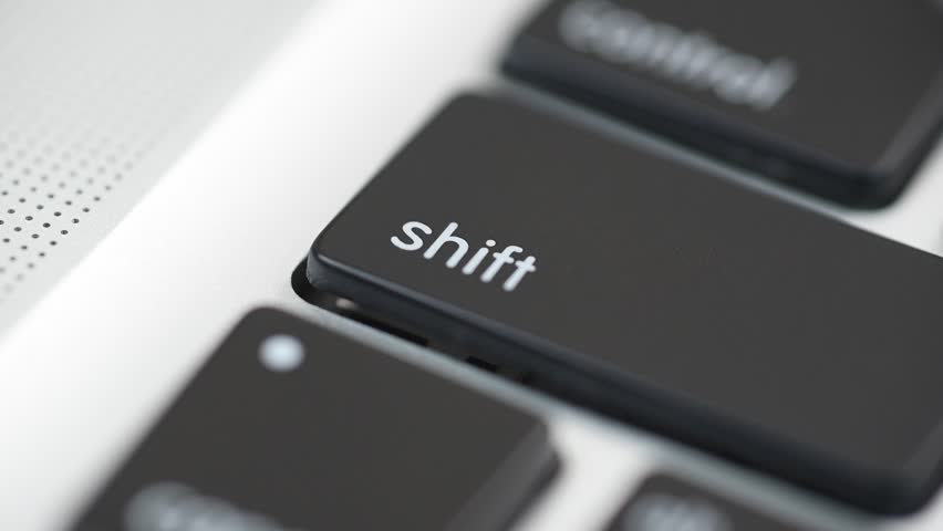 Hand Pushing The Shift Key #11461580