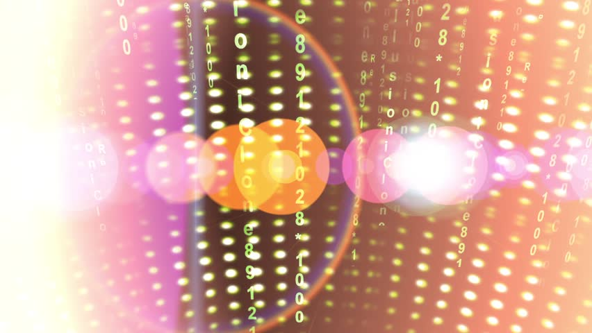 Abstract number scrolling across the screen,data code digital technology & circle rays light,digital matrix,computer program languages. cg_00545 | Shutterstock HD Video #11464211