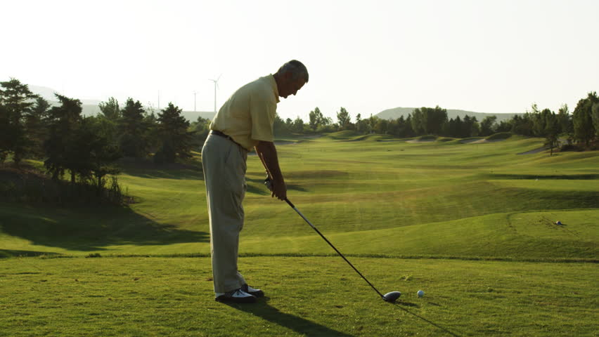 Senior golfer teeing off | Shutterstock HD Video #11504702