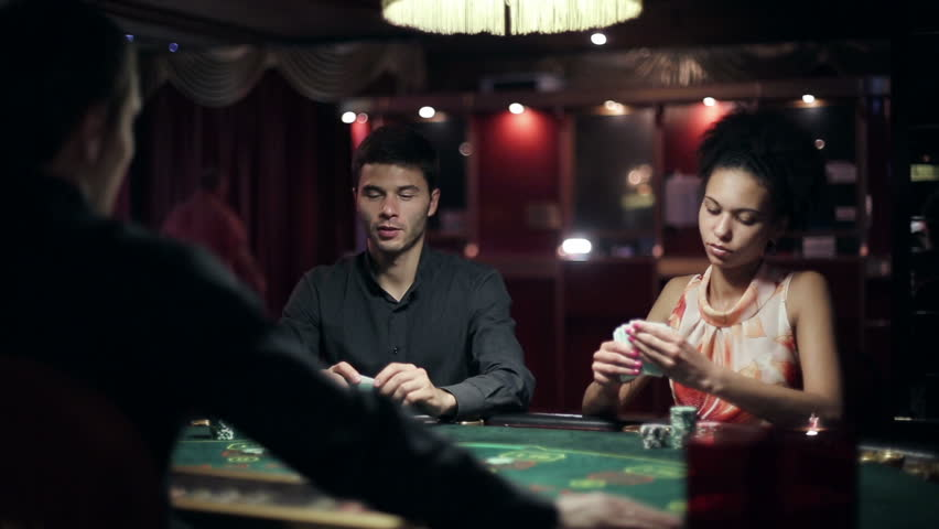 People playing poker in casino | Shutterstock HD Video #11539745