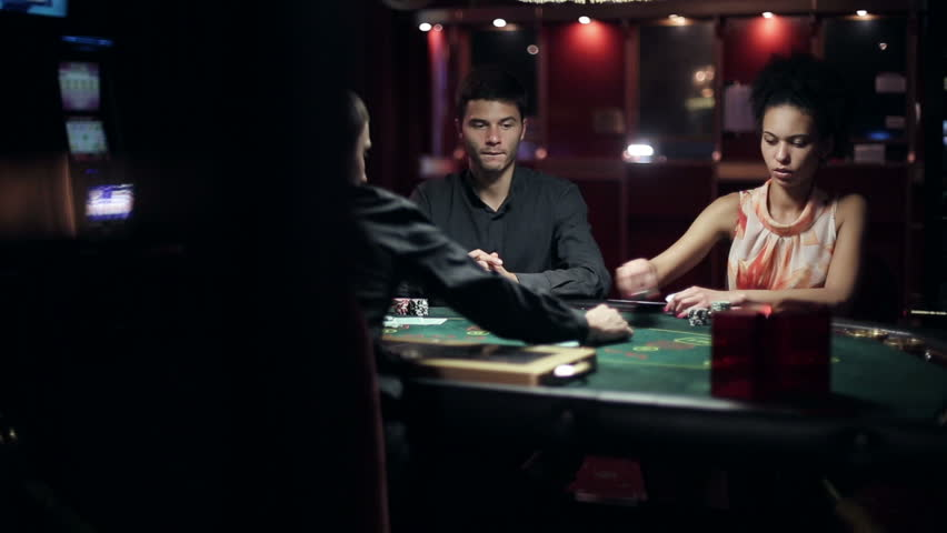 People playing poker in casino | Shutterstock HD Video #11539751