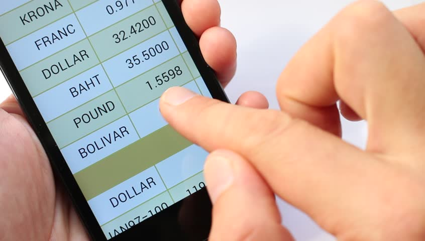 A list of the world's national currency. Currency Rates On line. Exchange rates display in smart phone. Market Analysis. Currency symbol #11544899