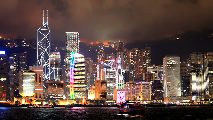 Skyscrapers in Hong Kong. Timelapse | Shutterstock HD Video #1158322
