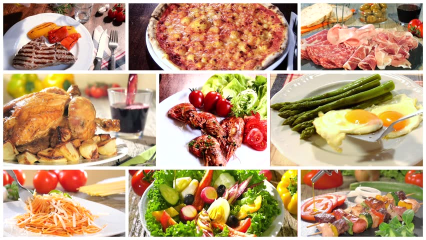 Various Delicious Food Recipes Collage Stock Footage Video 100 Royalty Free 11588561 Shutterstock