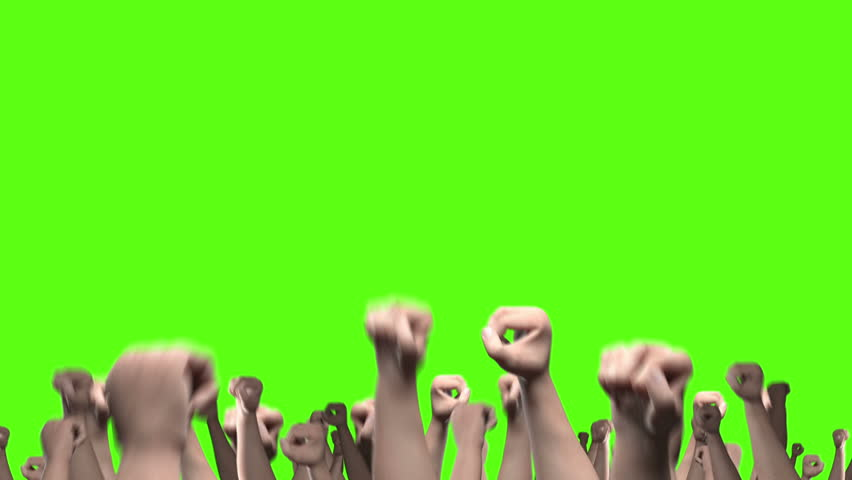 Lots of arms and fists punching the air with thumbs up signs. Comes with the Alpha #11604314