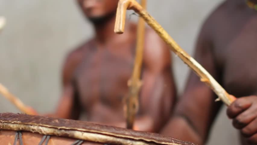 Big Close up  African Drums playing  James town Ghana, December 2014 | Shutterstock HD Video #11617673