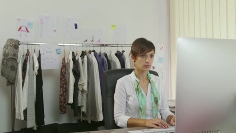Businesswoman Beautiful Young Woman Working Stock Footage Video 100 Royalty Free 11631920 Shutterstock