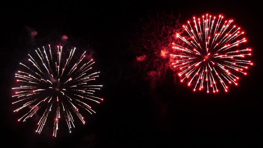 Fireworks Explosion. Spectacular Fireworks show