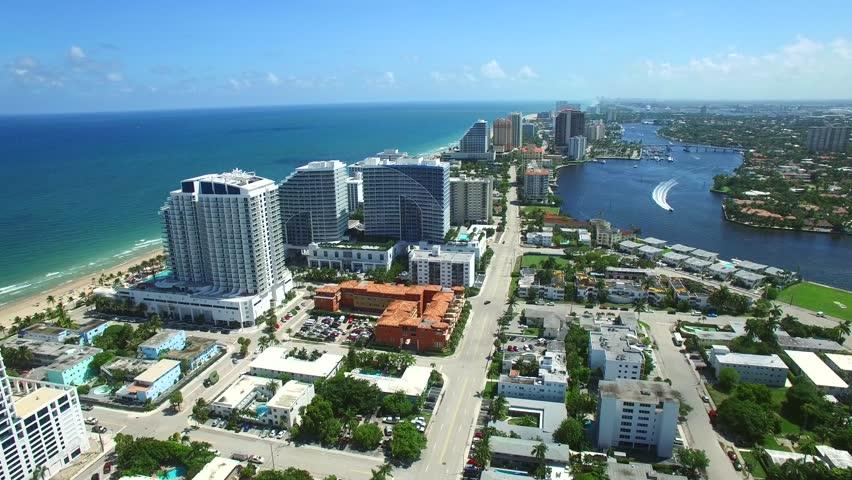 Aerial video of Fort Lauderdale Beach FL USA 4k   Shutterstock HD Video #11662841