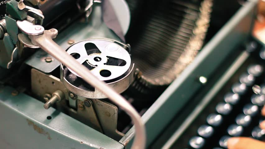 Close-up. typing the old metal typewriter, retro style | Shutterstock HD Video #11668817