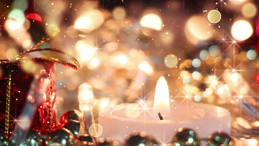 Candle and glitter particles loopable christmas background  | Shutterstock HD Video #11669360