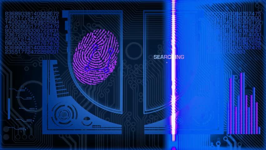 Fingerprints scanned by a program. | Shutterstock HD Video #11680205
