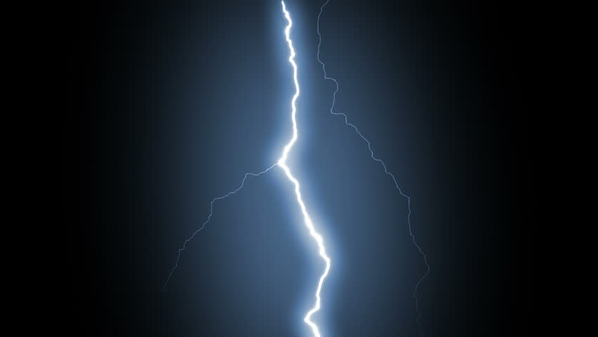 Several lightning strikes over black background. Blue. Electrical Storm. More options in my portfolio. #11745674
