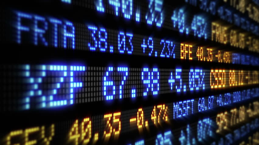 Stock Market Tickers. Loopable. Blue and Orange. 2 videos in 1 file. Digital animation of Stock Market prices passing by. Lateral view. More options in my portfolio.   Shutterstock HD Video #11745989