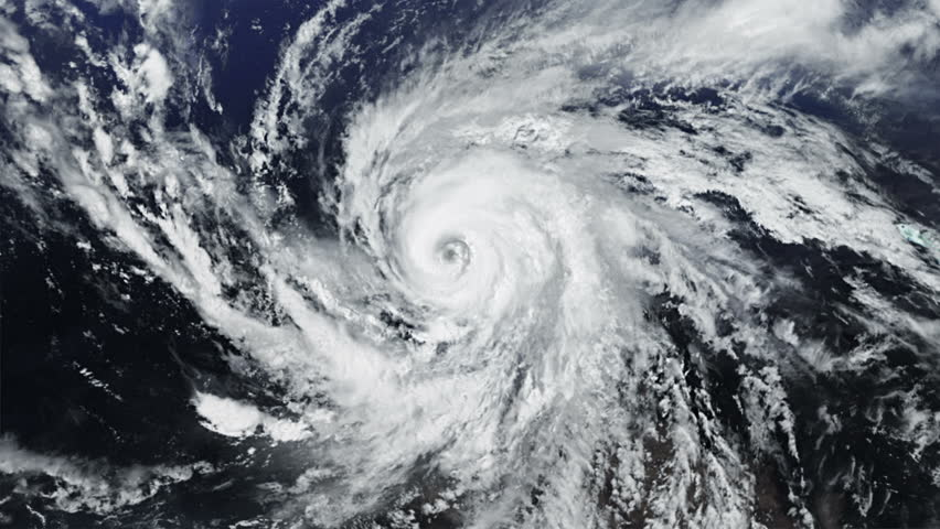 Hurricane. Alpha matte. 2 videos in 1 file. Huge hurricane seen from space. Earth map based on images courtesy of: NASA http://www.nasa.gov.