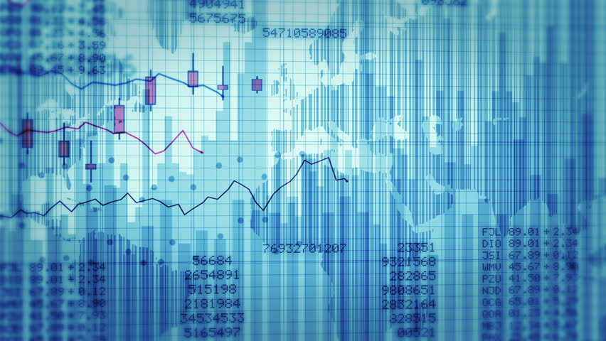 Financial charts with increasing profits. Blue and white. Economy Background. 2 videos in 1 file. More options in my portfolio. | Shutterstock HD Video #11748665