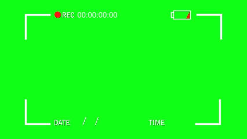 Video Camera Screen Interface on a Green Screen Background   Shutterstock HD Video #11771486
