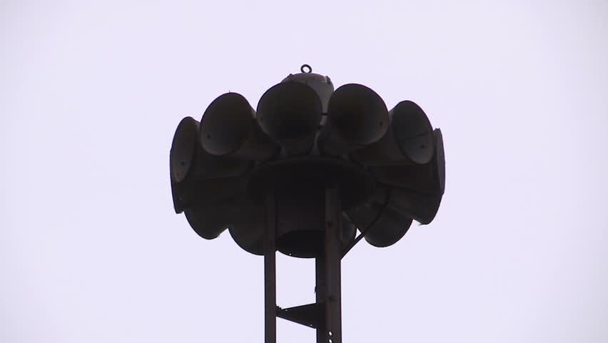 Ontario, Canada May 2014 Tornado warning siren