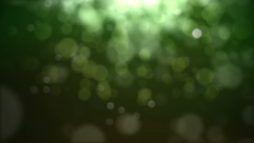 green dancing lights emotive background