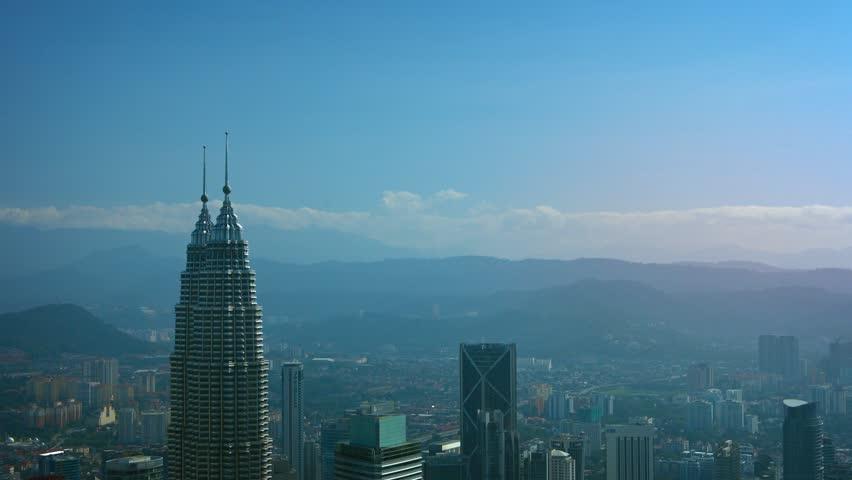 KUALA LUMPUR. MALAYSIA - CIRCA FEB 2015: Overlooking Cityscape of Malaysia's Capital City from atop Kuala Lumpur Tower. also known as Menara Kuala Lumpur | Shutterstock HD Video #11778437
