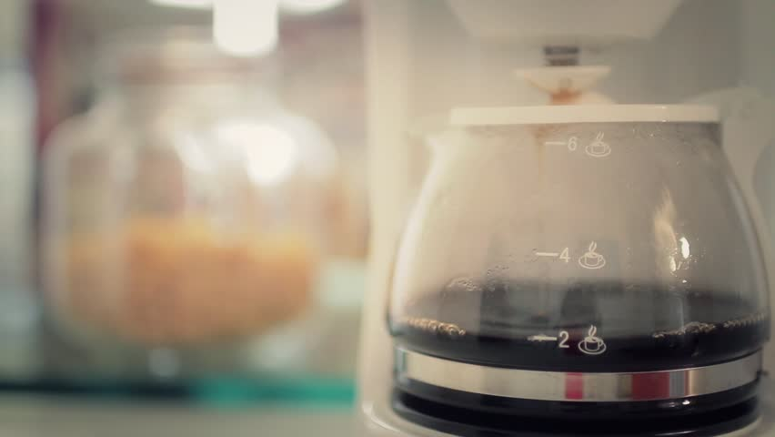 Coffee for Two - Making Coffee. Morning coffee machine making coffee for two. | Shutterstock HD Video #11782409