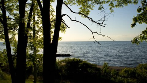 Lake Ontario Sunset Timelapse. a wide angle time-lapse of the sun setting over lake Ontario.