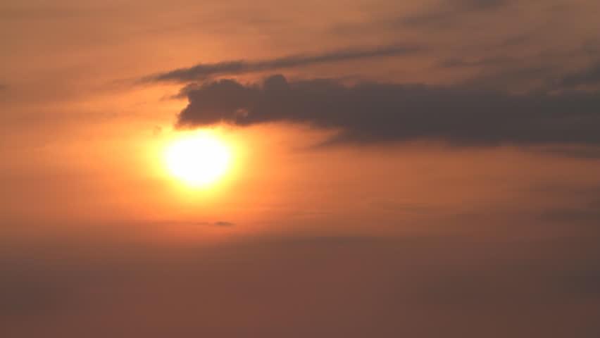 Sunset Close Up Still. the sun sets in a hazy sky | Shutterstock HD Video #11837756