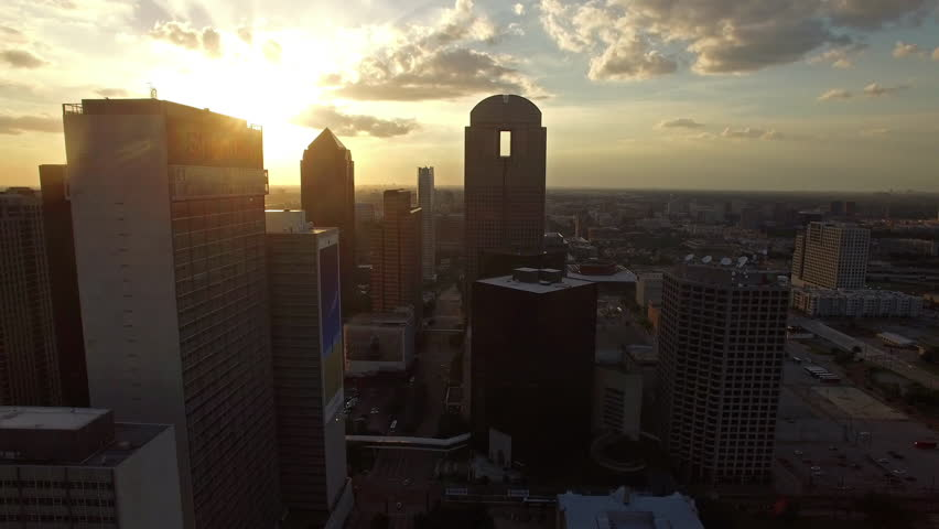 Aerial video of Dallas, Texas.